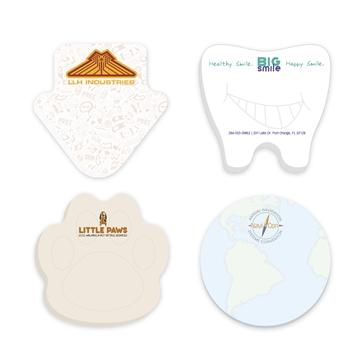 3'' x 3'' Adhesive Die Cut Notepads 50 sheet pad
