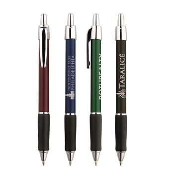 Promotional Metallic Viper Click Ballpoint Pen With Grip