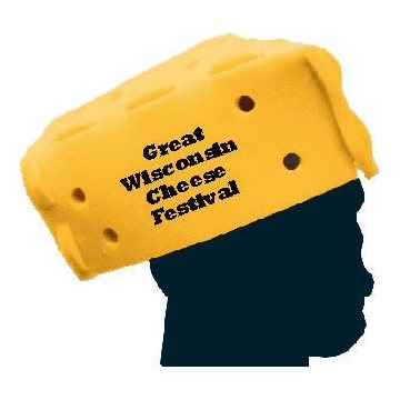 7 Promotional Foam Cheese Wedge Hat Assembly Required