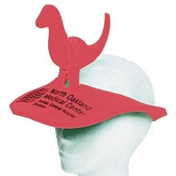 Promotional Dinosaur (2- Pc) Pop - Up Visor