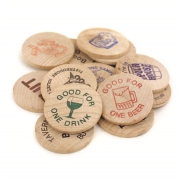 1-1/2'' Natural Wood Wooden Nickel