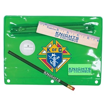 Promotional Premium Translucent Vinyl School Kits, Full Color Digital