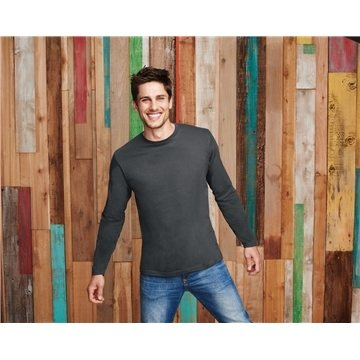 Promotional District Made Mens Perfect Weight Long Sleeve Tee