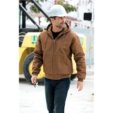 Promotional CornerStone Duck Cloth Hooded Work Jacket