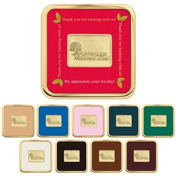Promotional Brass Square Coaster Weight(R) Coasters