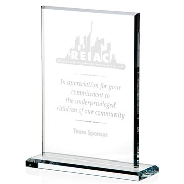 Vertical Gem Cut Award Large