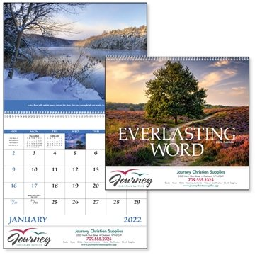 Promotional Everlasting Word w / Funeral Pre - Planning Form - Good Value Calendars(R)