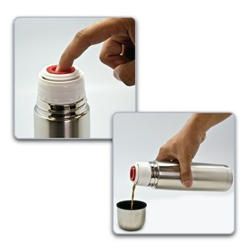 Clayton - 33 oz / 1 Liter Bullet Stainless Steel Vacuum Bottle
