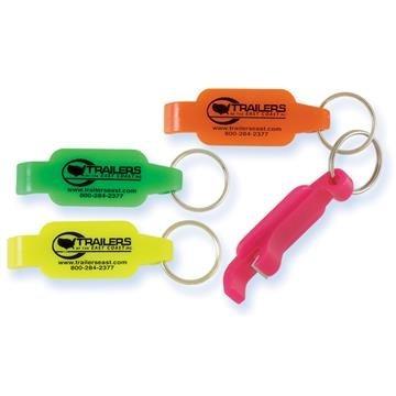 Neon Bottle Opener Key Ring