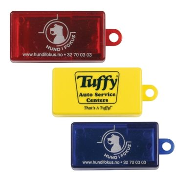 Promotional Clicker Noisemaker With Tab For Attaching To Key Chain.