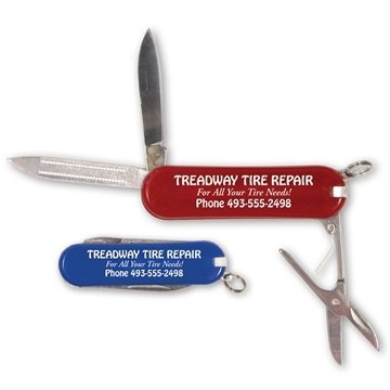 Red - Pocket Knife With Attachments.