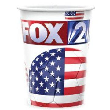 Promotional 17 oz reusable white plastic cup