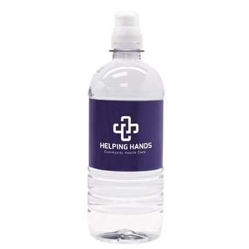 Promotional 20 oz. - Bottled 100 spring water with sport cap.