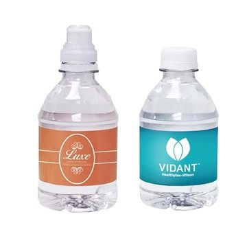 Promotional 8 oz Flat Cap Bottled Water
