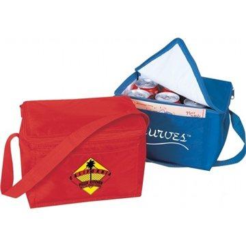 Promotional Insulated 420 denier nylon 6 pack cooler.