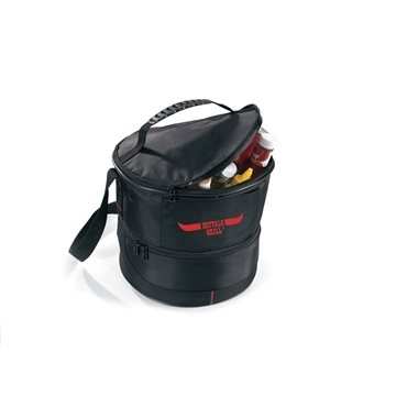 Chill And Grill Black Outdoor Kit With Portable Grill & Large Cooler