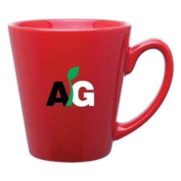 12 oz Mini Latte mug - red