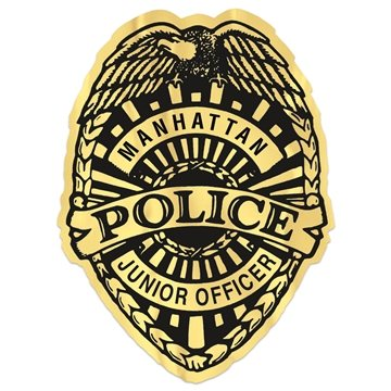 Junior Police Badge Stickers