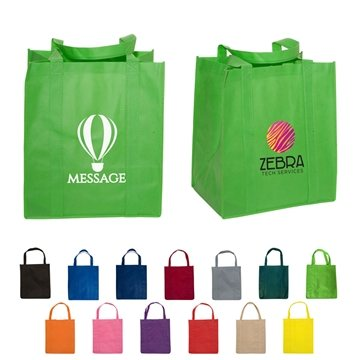 Non Woven Multi Color Enviro Shopper Bag 13'' X 15''