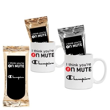Promotional Arise Coffee Mug w / One Pot Coffee Pack