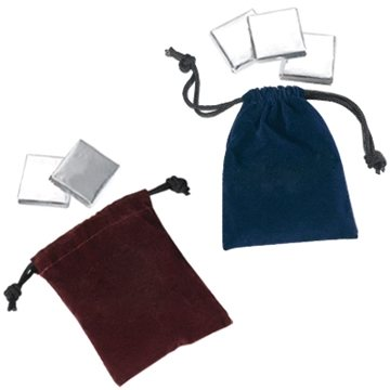 Lancelot Velour Pouch - Rockwell Square Chocolate Pieces