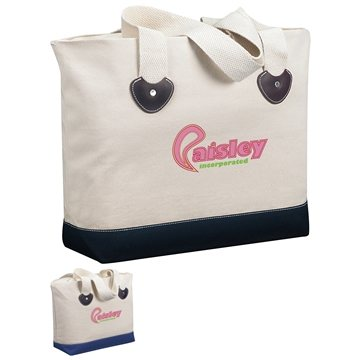 Promotional zippered-boat-tote