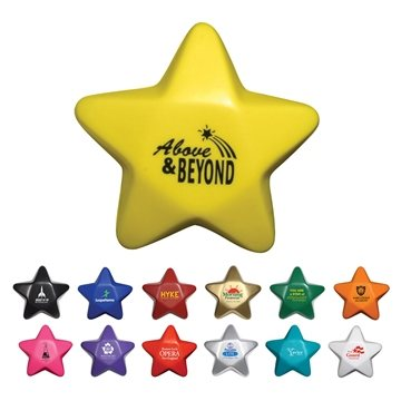 Multi Color Promotional Star Stress Ball