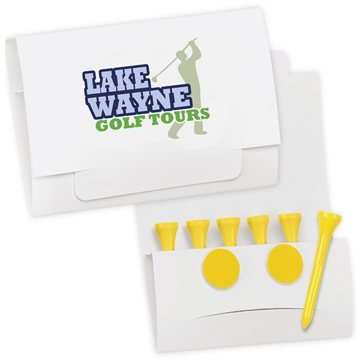 6-2 Golf Tee Packet - Value Pak-2-1/8'' Tees