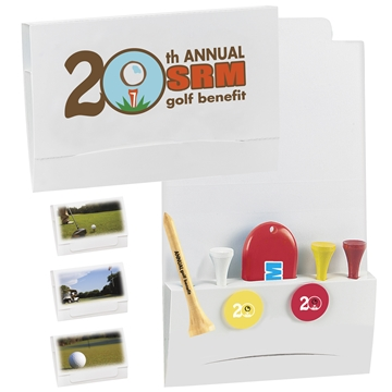 Promotional 4-2-1 Golf Tee Packet - 2-1/8 Tee