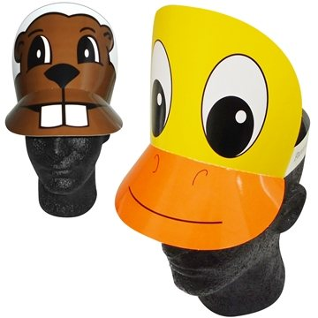 Duck/Pig/Beaver Visor- Paper Products