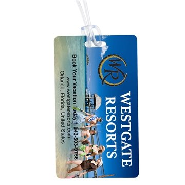 Recycled 4 Color Process Kwik Seal® Luggage Tag