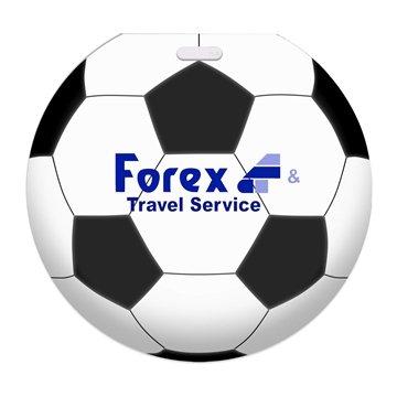 Recycled Jumbo Soccer Ball Luggage Tag
