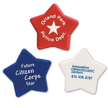 Patriotic Stars Imprintable Eraser — 1 1/4'' Diameter Patriotic Star