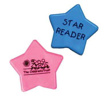 Promotional Pastel Stars Imprintable Eraser - 1 1/4 Diameter Pastel Star