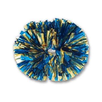 Promotional 2- Color Mix Metallic Show Pom - 4