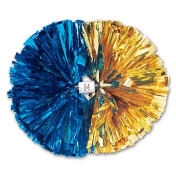 Promotional 2- Color Contrasting Ends Metallic Show Pom - 6