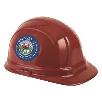Decal Imprinted Hard Hat- Hard Hat- 2 Sides & Back (C)