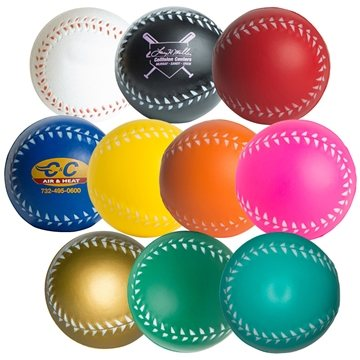 Promotional Baseball Squeezies Stress Reliever