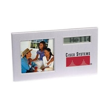 Scrolling Message Photo Frame with Alarm Clock