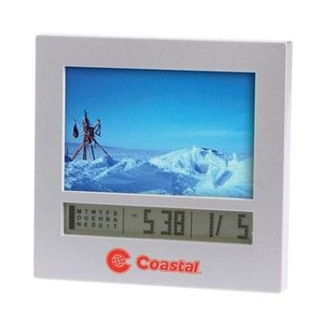 Promotional Photo Frame Digital Calendar Alarm Clock