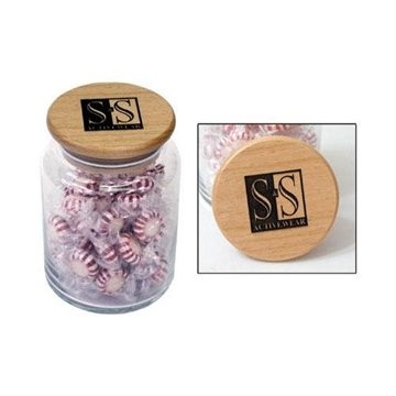 Promotional 26- oz. Apothecary Jar with Laser - Etched Lid