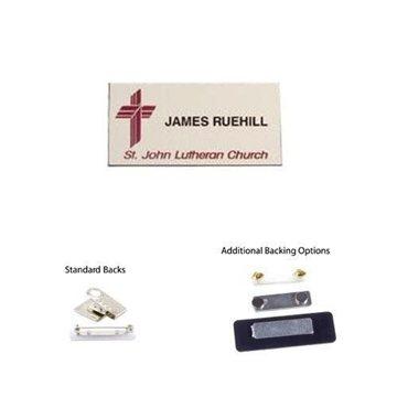 1 1/2'' x 3'' Laser Engraved Name Badge