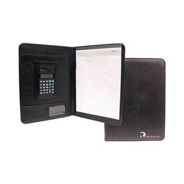 Letter-Size ''Nu-Leather'' Portfolio with Calculator