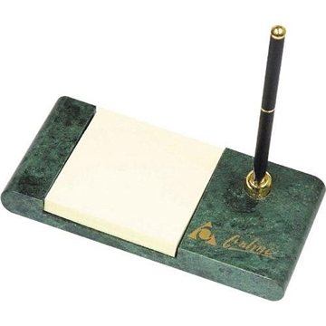 Promotional Marble Desk Set with Pen and Post - It Notes