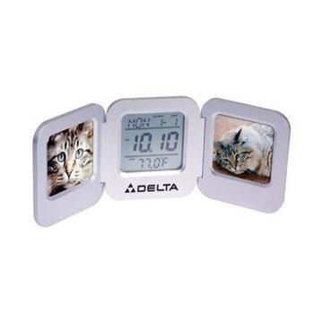 Aluminum Dual 2'' x 2'' Photo Frame Clock