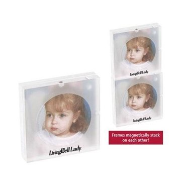 Promotional 3x3 Acrylic Magnetic Stacking Photo Frame