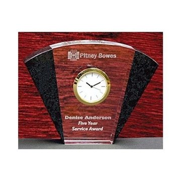 Promotional 4 Crystal Granite Fan Clock