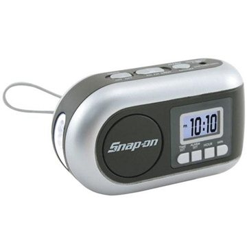 Dynamo-Powered AM/FM Radio/LED Flashlight with Alarm Clock and Siren