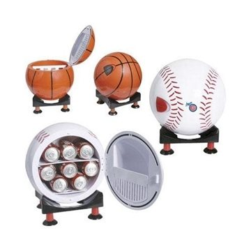 Sport Ball Design Mini Refrigerator and Warmer with Multi-Angle Base
