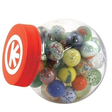 Promotional Glass Marbles Game Set with Storage Canister